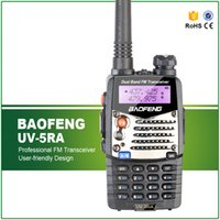 Großhandel-neue Baofeng UV-5RA für Walkie Talkies Scanner Radio Vhf Uhf Dual Band Ham Radio Transceiver Free Headset