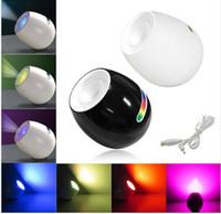 nachtlichtfarben großhandel-256 Farben LED Nachtlicht Living Farbe veränderbare Stimmung Lampe LED w / Touchscreen Scroll Bar romantische Atmosphäre Lampe für Hochzeit