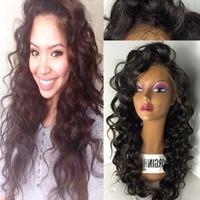 Wholesale Silk Top Human Wigs - 100% Brazilian Full Lace Wig Silk Top Virgin Human Hair Glueless Silk Top Full Lace Wigs Bouncy Wave With Silk Base