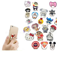 Wholesale Doraemon Mobile - Creative Lazy Ring Buckle Mobile Phone Holder Stand Support Universal Cartoon Hello Kitty Doraemon Mickey For iPhone 7 Plus Samsung S8 012