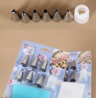 Wholesale Icing Nozzle Silicone - New Arrive Silicone Icing Piping Cream Pastry Bag + 6xStainless Steel Nozzle Set DIY Cake Decorating Tips Set