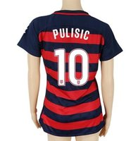 Wholesale Womens Army - 17-18 Women Jerseys tops,2017 3rd Vapor Match Jersey (Gym Red) #10 Pulisic ,#8 DEMPSEY Jerseys, Customized Womens Tops,Thai Quality Jersey