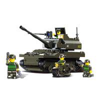 Wholesale Sluban Diy - Building Blocks Toy Sluban 9800 Tank DIY Block eductional Toy Military Army Makava Tank children toys Gifts