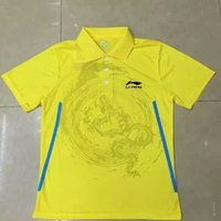 Wholesale Costume Couple - New Li-Ning Badminton T-Shirts 100% polyester quick-drying badminton suit hygroscopic table tennis table tennis sport suit couple costume