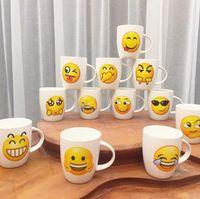 Wholesale Ceramic Drink Cup - Emoji Ceramic Mug Cute Cartoon Face Expression Office Coffee Mug Creative Milk Cups Drink Water Glasses OOA2670