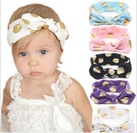 Wholesale bow claw for sale - Group buy Lovely Baby rabbit ear Headbands Cotton Glitter Bow elastic Knot Headband Baby Hairbands Children Hair Accessories Christmas Party Gift