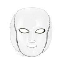 liderliğindeki güzellik ev makineleri toptan satış-LED Ile 7 PDT Renkler Yüz Maskesi Kırmızı Mavi Yeşil Foton Güzellik Makinesi Ev Kullanımı Için Cilt Gençleştirme Beyazlatma Yüz Makinesi Ücretsiz Kargo