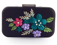 Wholesale Handbag Flower Satin - Hot Sold Manual Mini flowers Cosmetic Bags handbag shoulder Messenger bag chain cosmetic bag High Quality