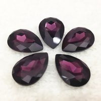 Wholesale More colors U choose x10mm bag color drop pear Shape point back Fancy Rhinestones strass crystal