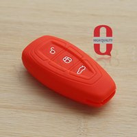 Wholesale Silicone Key Case Ford - Silicone car key fob cover case set skin protector for Ford Ecosport Kuga focus 2 3 st Escape Mondeo Smart remote accessories