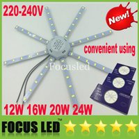 Wholesale Led Magnet Round - New 12W 16W 20W 24W Easy Replace Surface LED Panel Lights Cool White SMD 5730 With Magnet Fixture LED Ceiling Down Lights + Driver 220-240V