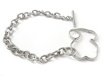 Wholesale Christmas Gift Specials - Spain Bear Chain bracelet Stainless Steel Never Fade harmless for skin high quality special design for ladies
