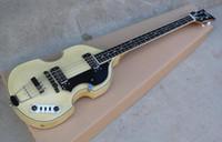 bas gitar pikapları toptan satış-McCartney Hofner H500 / 1-CT Çağdaş Keman Deluxe 4 Strings Bas Doğal Elektro Gitar Alev Akçaağaç Üst Geri 2 511B Zımba Transferleri