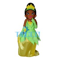 Wholesale Princess Frog Dress - Wholesale-Tiana Princess Mascot Costume of The Princess and the Frog Fancy Dress Free Shipping