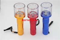 Wholesale Electric Hand Torch - Electric Torch Shape Herb Tobacco spice Grinder Metal Smoking Grinding Crusher cigarette Pollen press hand muller Mill hand crank chopper