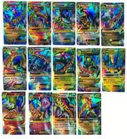 Wholesale Flash Trading - Poke TCG 18 CARD MEGA 18Pcs Poke Cards EX Charizard Venusaur Blastoise Flash card ALL MEGA 18PCS Poke Cards FREE SHIPPING