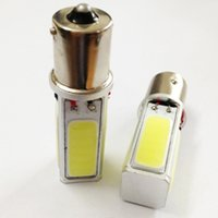 Wholesale High Power Led Ba15s - High Power COB Car Brake Light 1156 Tail Bulb 20W LED BA15S S25 P21W Lamp Pure White DC12V