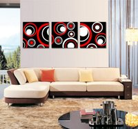 Modern Fine Abstract Circle Painting Giclée-Druck auf Leinwand Wand-Kunst Home Decoration Set30202