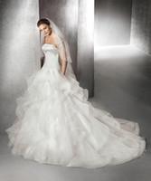 Wholesale Vestidos Crepe Plus Size - Wedding Dresses Online Cheap Vestidos de Novia 2016 Strapless Sweep Train Elegant Simple Wedding Dress Free Shipping Custom Made