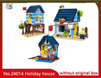 Wholesale Toy 3in1 - LEPIN 24014 295Pcs 3IN1 Seaside Holiday House Building Blocks set Bricks 31063 Children Toys