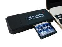 micro hc großhandel-Hochgeschwindigkeits-USB-Typ - C-Kartenleser und Micro-USB 2.0 mit allen Versionen von SD / HC / MicroSD-Speicherkarten
