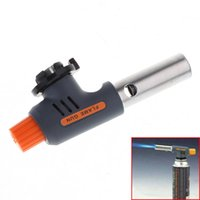 Wholesale Quality Bbq - High Quality Portable Welding Gas Torch Flame Gun Electronic Ignition Lighter Burner High and Low for Camping BBQ and Baking