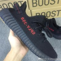 Wholesale Girl Hiking - 2017 Sply 350 Boost V2 Bred Running Shoes Kanye West Black Red Outdoor Soports Breds Sneakers for Girls Mens Size Us13