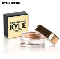 Wholesale Powder Creme - in stock Kylie Jenner Birthday Editon Kylie Cosmetics Creme Shadow Copper  Rose Gold black brown Creme OMBRE perfect