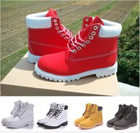 Wholesale Black Leather Top Working Shoes - 2016 Hot Sale Yellow Classic 10061 Boots Women Men's for Top quality Wheat Authentic Leather Fashion Outdoor Waterproof Work Shoe 36-46