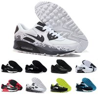 Wholesale Air Running Shoes Womens - Brand New Hight Quality Mens Womens Classic 90 Running Shoes Black White Mens Womens Trainers Sneakers Man Walking Air Sports tennis Shoes
