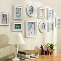 Foto Wand Rahmen Modernes Wohnzimmer Schlafzimmer Nachttisch Europäischer  Art Wand Hintergrund Verzierte Fotorahmen 10pcs / Set Rechteckoval