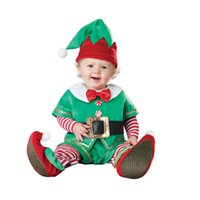 Wholesale 2016 Christmas Romper Play Costume Santa Baby Costume cosplay clothing for month