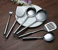 Wholesale classics parts online - 6pc set House Miniature Metal Kitchenware Silver Stainless Steel house Cook Set Classic Kitchen Supplies Parts