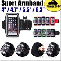 Wholesale plastic key holder case online - Universal Waterproof sport Armband Case Running Pounch Phone Bag For Iphone S se s Plus S6 S7 edge LG key Holder Arm Band cell phone