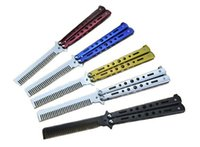 Wholesale Practice Balisong - 5 Color Camping Knife Benchmade Stainless Steel 54HRC 3Cr13Mov Practice Training Butterfly Balisong Style Knife Combat Sport Knife F806E