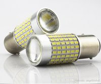 Wholesale Led Light Auto Assembly - BA15S 1156 LED Car Brake Light LED Tail Lamp Light 144SMD3014 DC 12-24V Auto LED Driving Bulb Lights