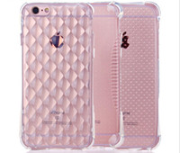 Wholesale Iphone5 For Cheap - Cheap Price Crystal Diamond Case Transparent Silicone TPU Back Cover Gasbag Anti Shock Cell Phone Cases for Iphone6 Iphone5 Iphone6 6plus