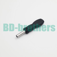 Black Plastic 6.5mm Hexagon Wrench Magnetic Handle Sleeve for 3.8 4.5 Security Bit For Console 50pcs lot