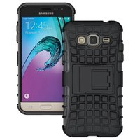 Wholesale Cool Galaxy Cases - For Samsung J3 2016 Case Cool Rugged Combo Hybrid Armor Bracket Impact Holster Protective Cover Case For Samsung Galaxy J3 (2016) J320 J320F