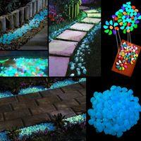 Wholesale Vase Decorations Stones - Luminous Glow Stone Garden Vase Decorations Noctilucent Stone Glow in the Dark 10 colors Attractive Creative Romantic Wedding Ornament