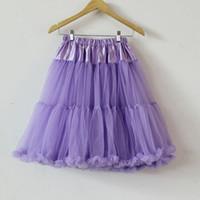 Wholesale Chiffon Long Ballet Skirt - Hot Sale Adult Womens Ladies Tutu Skirt Fluffy Party Costume Petticoat Ballet Princess Adult Tulle Dancewear Long Pettiskirt Wholesale