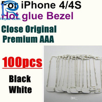 Wholesale Iphone 4s Middle Frame Assembly - 100pcs lot High Quality Front Bezel Chassis Frame with hot glue Replacement LCD Middle Holder Assembly For iPhone 4 4S Housing Parts