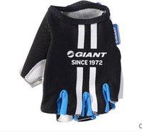 Wholesale Black Lambskin Gloves - High quality lambskin half finger cycling manufa cturer Sports Gloves