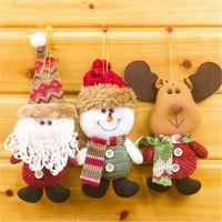 Wholesale Luminous Long Fabric - Special Offer Christmas Tree Fabric Santa Snowman Reindeer Ornaments Xmas Decorations