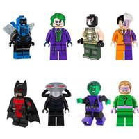Wholesale Bane Toys - Single Sale PC8018 POGO Minifigures Marvel DC Super Heroes Batman Joker Two Face Riddler Blue Beetle Bane Beast Boy Blocks Toys For Children