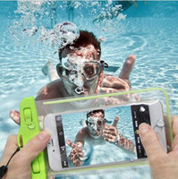 Wholesale Iphone 4s Camera Cases - Clear Waterproof Pouch Dry Case Cover For Camera Mobile phone Luminous Waterproof Bags for IPHONE 4 4S 5 5S 6 6S PLUS for Samsung