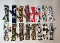 Wholesale Headbands Multi Color Plastic - 150color 2017 Xmas Bohemian mermaid ins cotton girls bow headband baby chevron zigzag headbands infant dot polka leopard bandanas headband