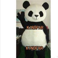 Wholesale Chinese Panda Costume - Wholesale-New Version Chinese Giant Panda Mascot Costume Halloween Cartoon Party Outfits Fancy Dress Free Ship