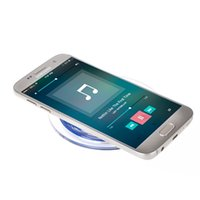 Wholesale Wireless Emitter - 2017 lowest price QI wireless charger Q11 round wireless charge base emitter mobile wireless charger- White + Blue