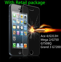 Wholesale Ace High Wholesalers - Tempered Glass For Samsung Glaxy Ace 4 G313H Mega 2 G750 G7508Q Grand 3 G7200 High Quality Screen Protector 0.33mm 9H Glass